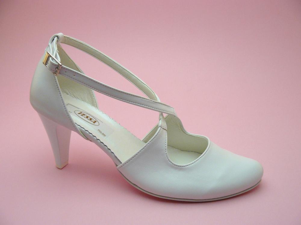 0f8e1c2e81e0c Tessa - Tessa 405 buty ślubne białe