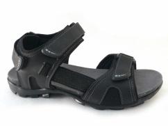Sandały skórzane Wojas 29006-91 czarne