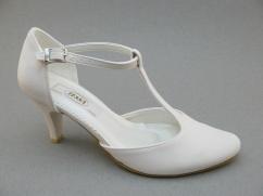 Buty ślubne Tessa 355 N ecru tłoczone