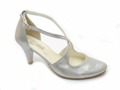 Tessa 405 buty ślubne srebrne