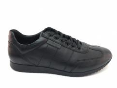 Półbuty skórzane sneakersy  Wojas 6048-51 czarne
