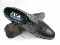 IVA półbuty skórzane garniturowe S-29 czarne