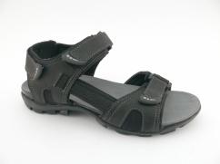 Sandały skórzane Wojas 5303-91 czarne